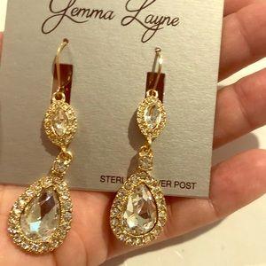 Beautiful light gold earrings